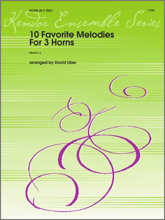 10 Favorite Melodies For 3 Horns - Full Score