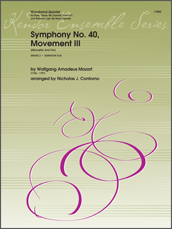 Symphony No. 40, Movement III (Menuetto And Trio) - Opt. Bass Clarinet