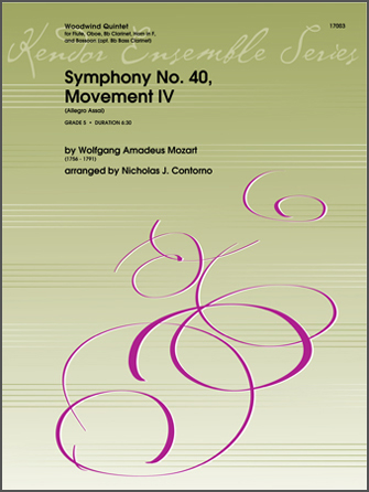 Symphony No. 40, Movement IV (Allegro Assai) - Bb Clarinet