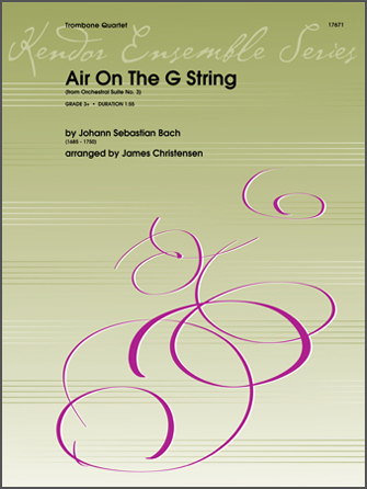 Air On The G String (from Orchestral Suite No. 3) - 1st Trombone