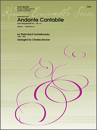 Andante Cantabile (from String Quartet No. 1, Op. 11) - 1st Bb Trumpet
