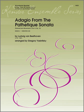 Adagio From The Pathetique Sonata (Themes From Movement II, No. 8, Op. 13) - Bb Bass Clarinet