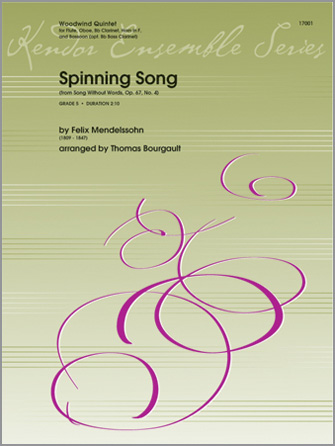 Spinning Song (from Song Without Words, Op. 67, No. 4) - Bb Clarinet