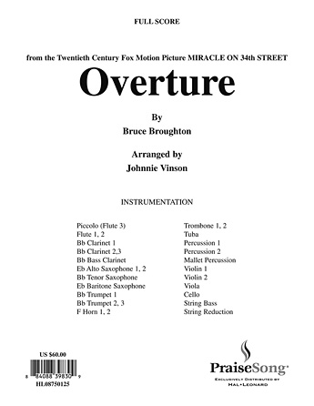 Overture to Miracle On 34th Street - Bb Clarinet 1