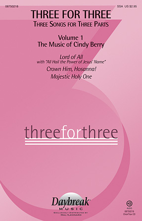 Three For Three - Three Songs For Three Parts - Volume 1