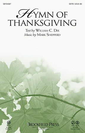 Hymn Of Thanksgiving - Full Score