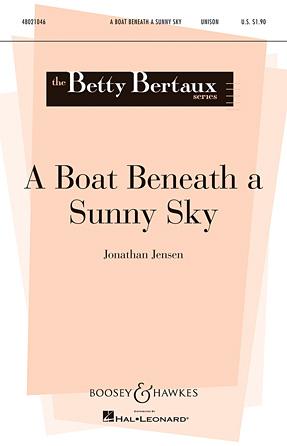 A Boat Beneath A Sunny Sky