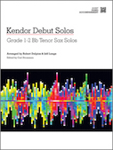Kendor Debut Solos - Bb Tenor Sax - Piano Accompaniment