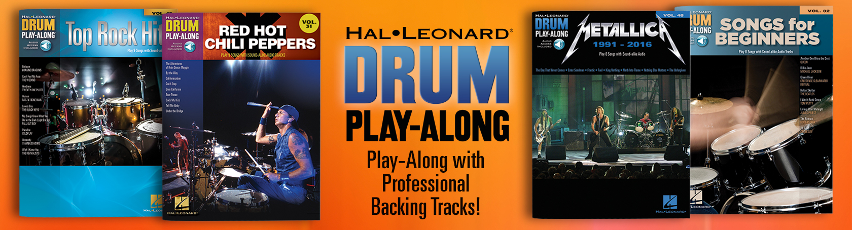 Drum Play-Along - Play-Along with Professional Backing Tracks