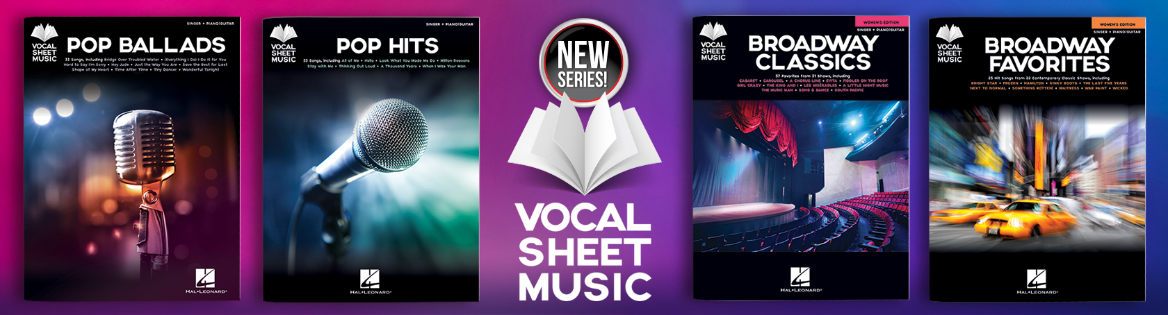 Vocal Sheet Music - New Series!