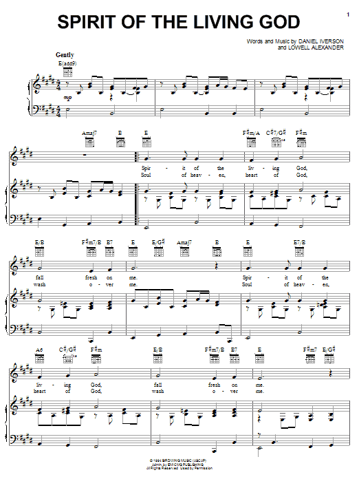 Spirit Of The Living God | Sheet Music Direct