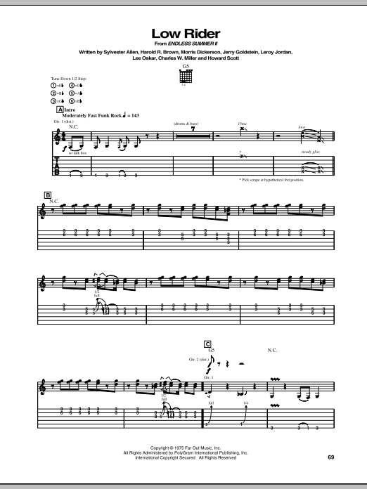 Low Rider (Guitar Tab)