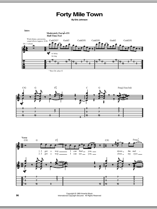 Forty Mile Town (Guitar Tab)