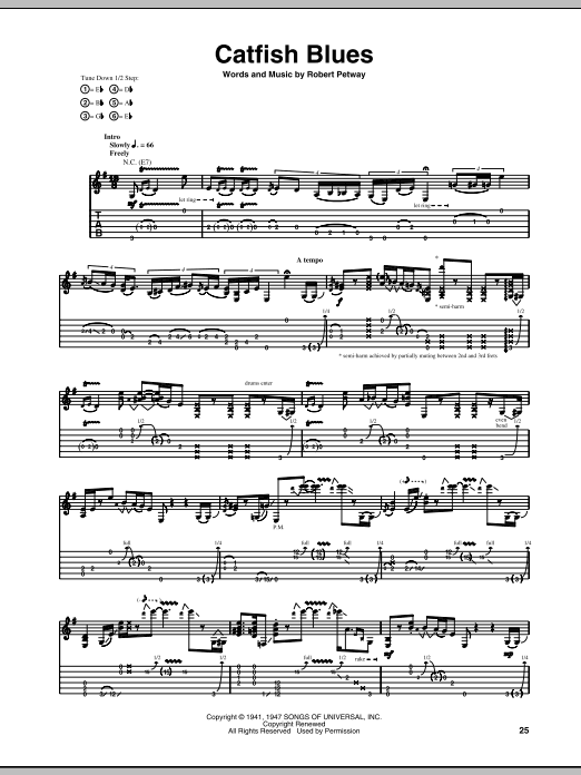 Catfish Blues Sheet Music