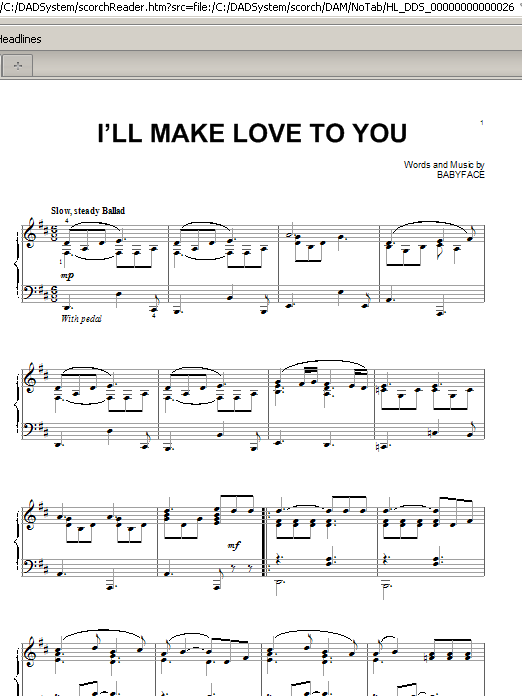 Partition piano I'll Make Love To You de Boyz II Men - Piano Solo