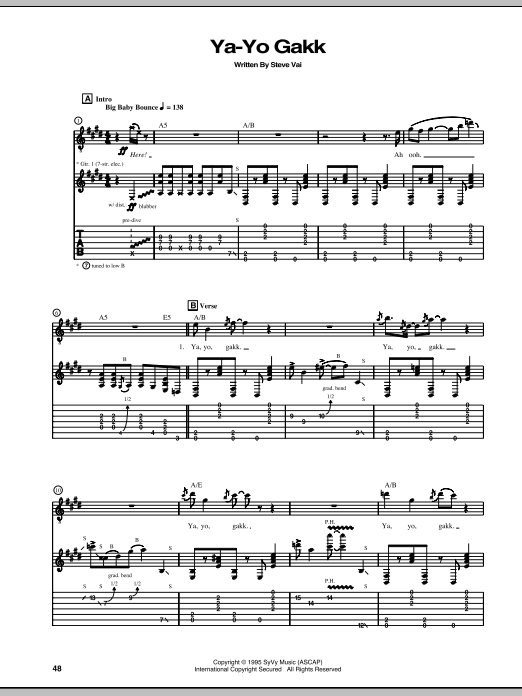 Ya-Yo Gakk Sheet Music