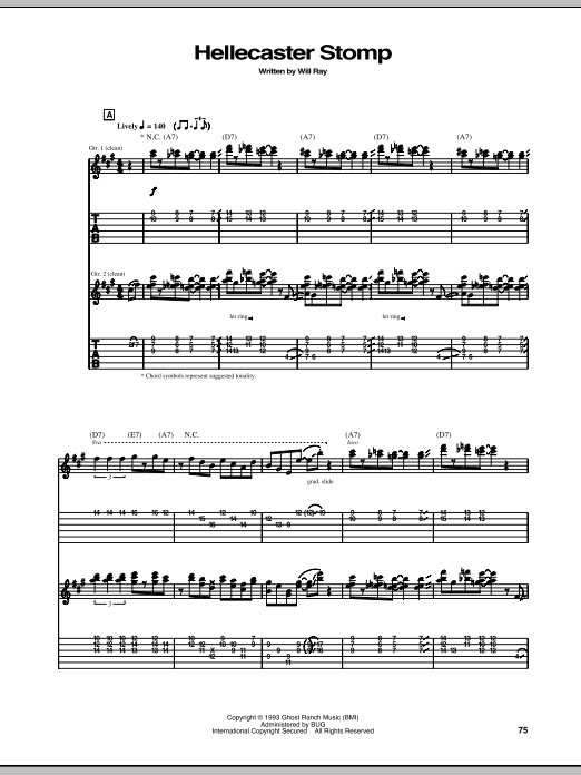 Hellecaster Stomp Sheet Music