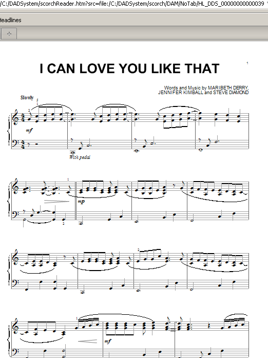 Partition piano I Can Love You Like That de All-4-One - Piano Solo