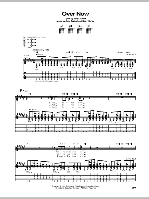 Over Now Sheet Music