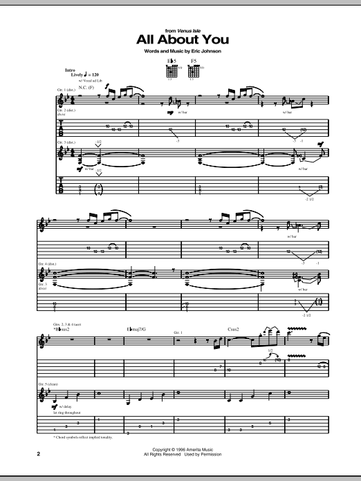 All About You (Guitar Tab)