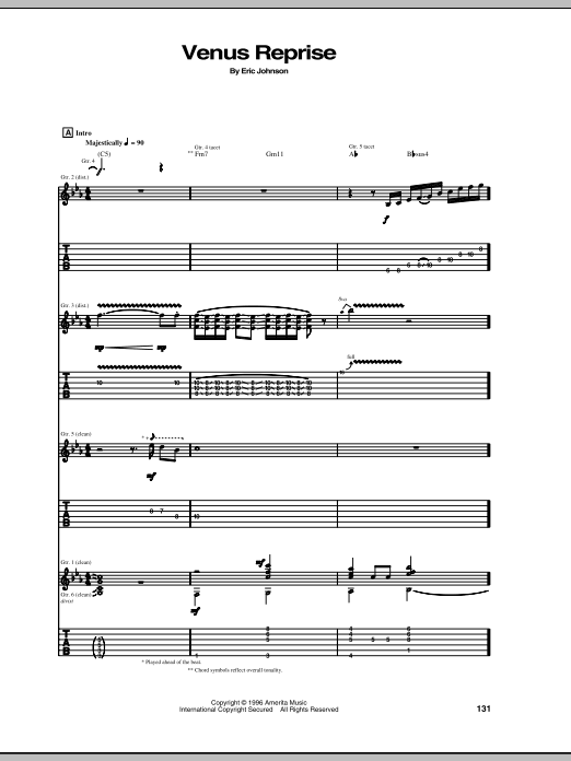 Venus Reprise Sheet Music