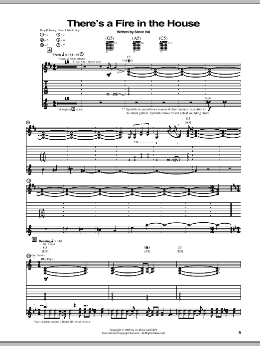 There's A Fire In The House (Guitar Tab)