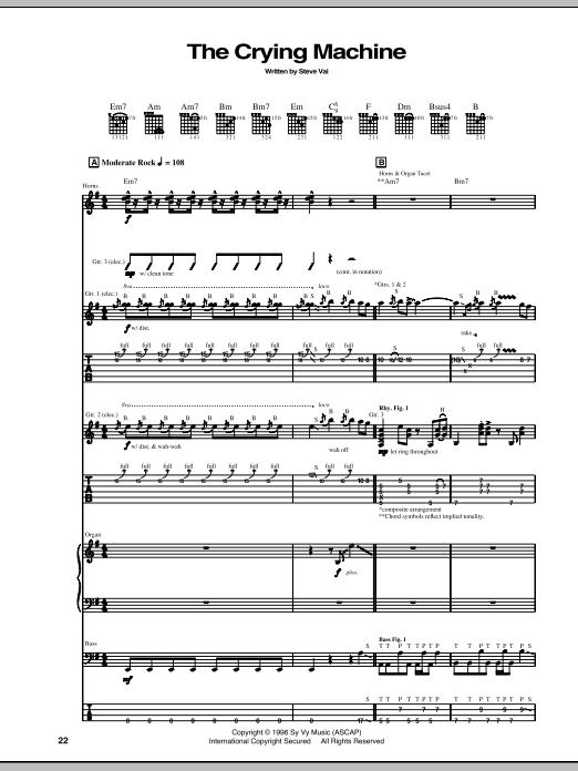 The Crying Machine Sheet Music