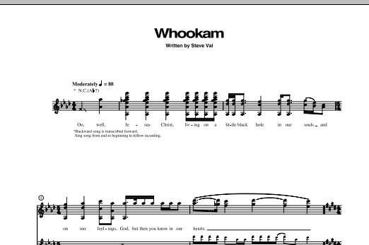 Whookam Sheet Music