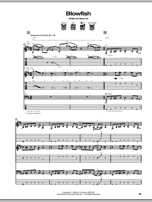 Blowfish Sheet Music