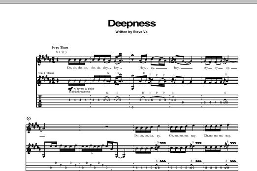 Deepness Sheet Music