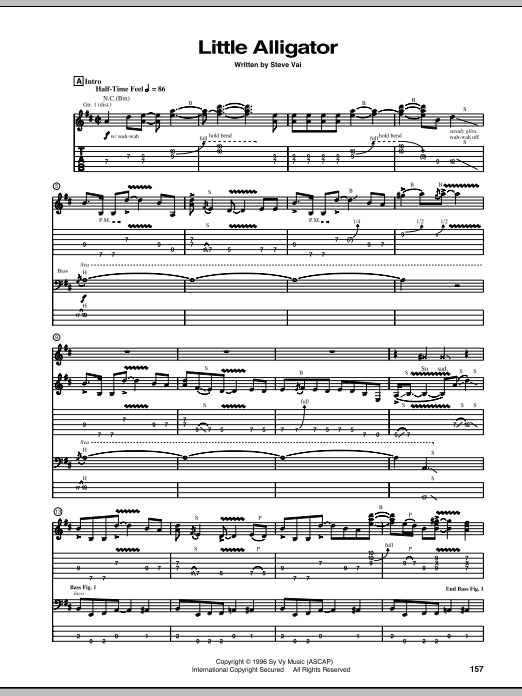 Little Alligator (Guitar Tab)