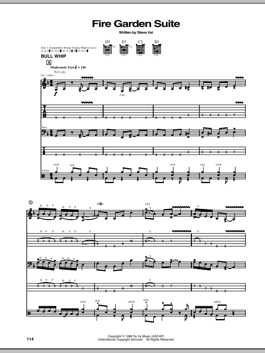 Bull Whip / Pusa Road / Angel Food / Taurus Bulba Sheet Music