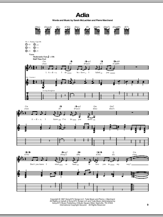 Adia Sheet Music