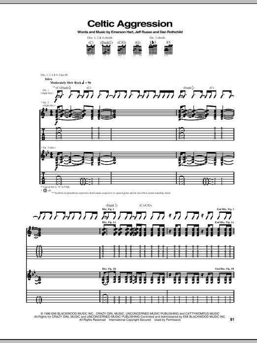 Celtic Aggression Sheet Music