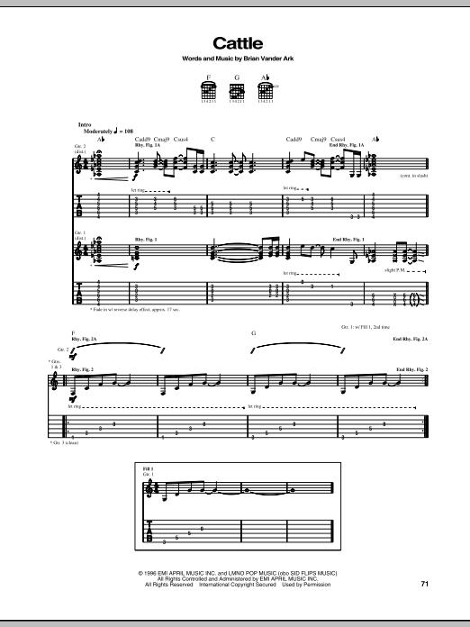 Cattle (Guitar Tab)