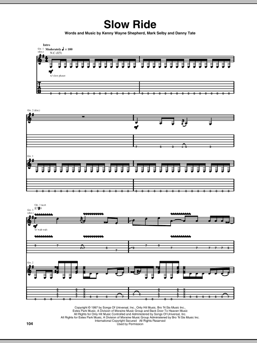 Slow Ride Sheet Music