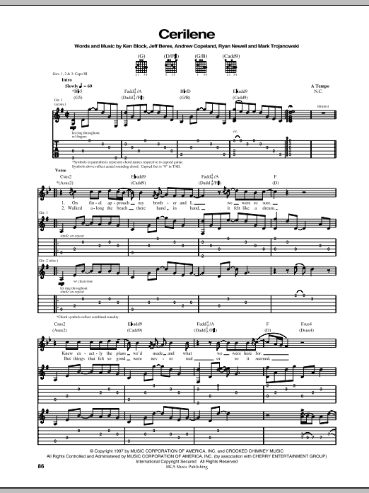 Cerilene Sheet Music