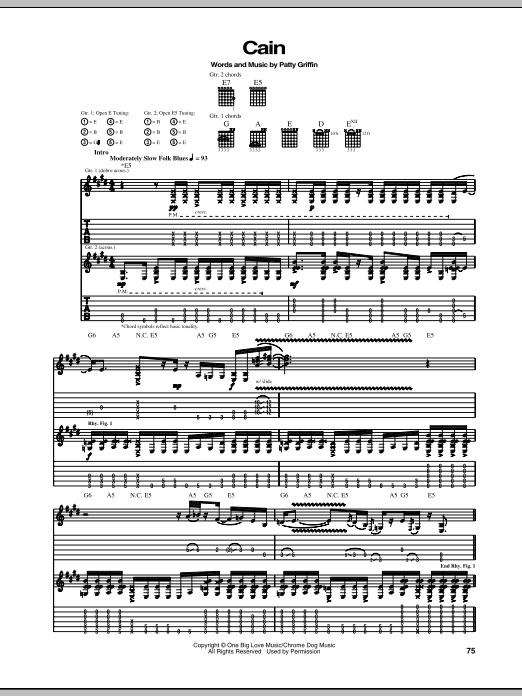 Cain Sheet Music