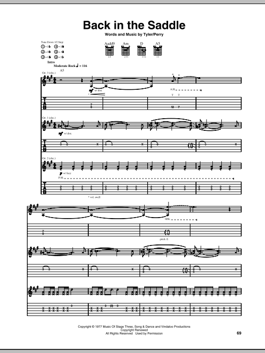 Back In The Saddle (Guitar Tab)