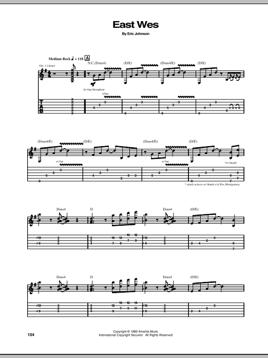 East Wes Sheet Music