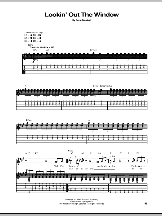 Tablature guitare Lookin' Out The Window de Stevie Ray Vaughan - Tablature Guitare