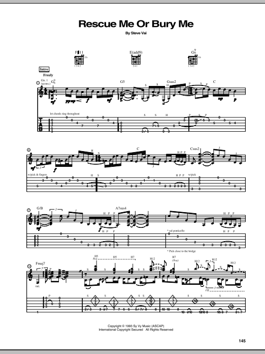 Rescue Me Or Bury Me Sheet Music