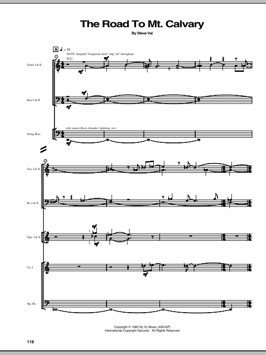 The Road To Mt. Calvary Sheet Music