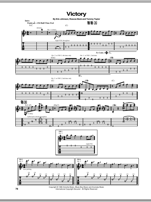Victory Sheet Music
