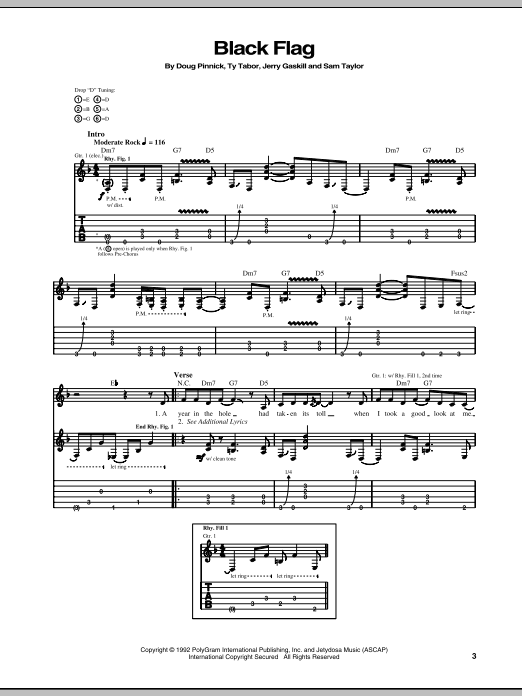 Black Flag Sheet Music