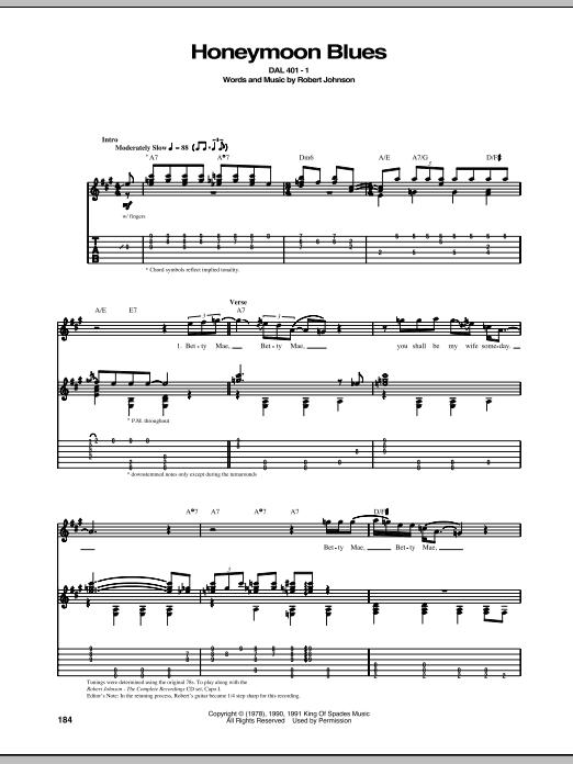 Honeymoon Blues (Guitar Tab)