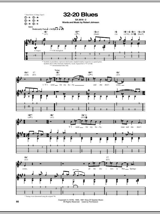 32-20 Blues (Guitar Tab)