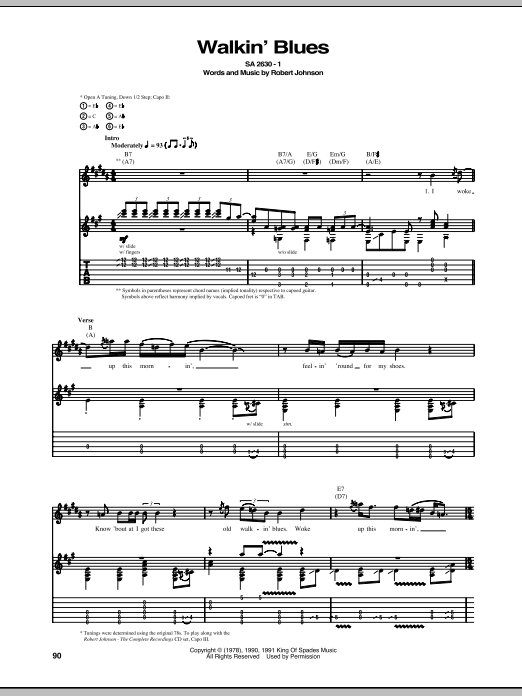 Walkin' Blues Sheet Music
