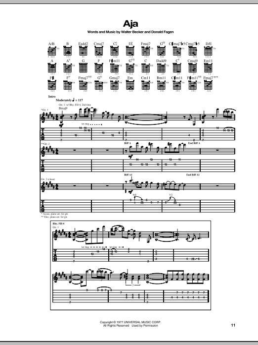 Aja Sheet Music