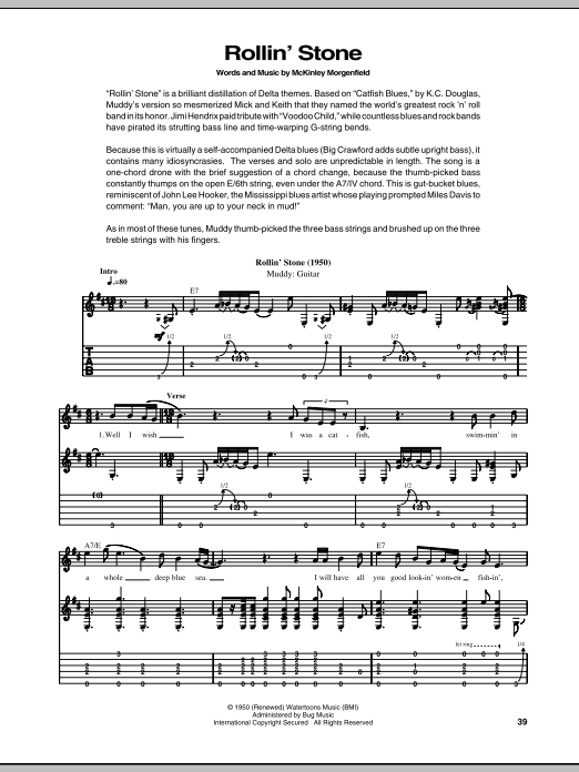 Rollin' Stone (Catfish Blues) Sheet Music